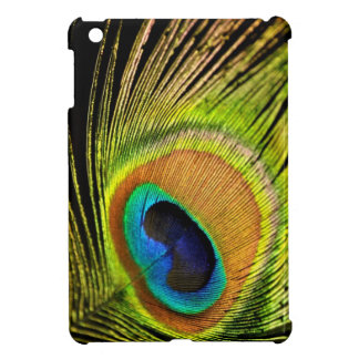 Golden Peacock feather iPad case Cover For The iPad Mini