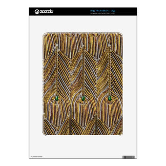 Golden Peacock Feathers Skin For iPad
