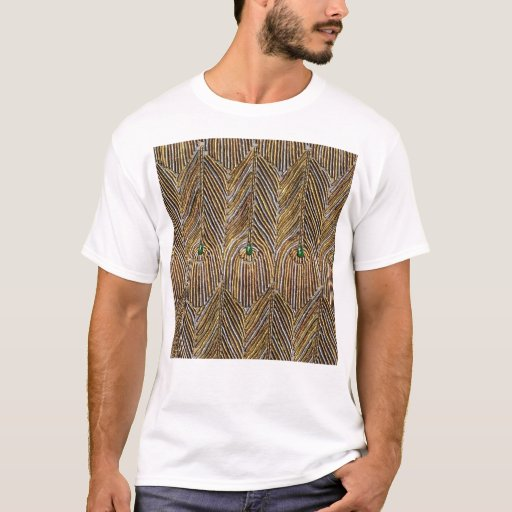 Golden Peacock Feathers T-Shirt