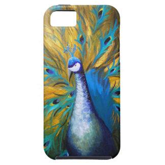 Golden Peacock ! (Kimberly Turnbull Art - Acrylic) iPhone SE/5/5s Case