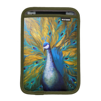 Golden Peacock (Kimberly Turnbull Art) Sleeve For iPad Mini