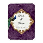 Golden Peacock & Swirls - Wedding Save the Date Rectangular Photo Magnet