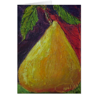 Golden Pear Greeting Card