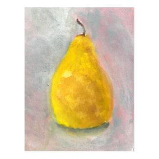 Golden Pear Still life Post Cards