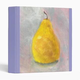 Golden Pear Still Life Watercolor Binder