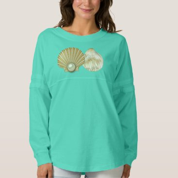 Beach Themed Golden Pearl Seashells Spirit Jersey