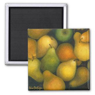 golden pears fridge magnet