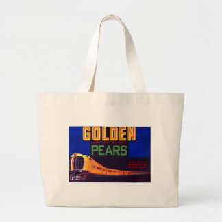 Golden Pears Large Tote Bag
