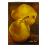 Golden Pears Note Card