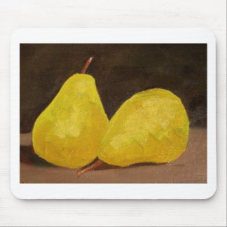 Golden Pears Oil Painting Original Art Yellow Mouse Pad