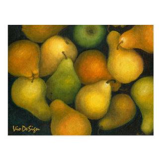 golden pears postcard