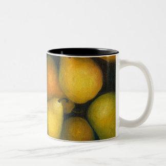 golden pears Two-Tone coffee mug