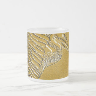 Golden Pelicans_ Frosted Glass Coffee Mug