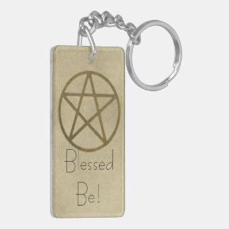 Golden Pentacle Acrylic Keychain