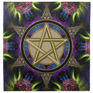 Golden Pentacle Magick Cloth Banners / Napkins