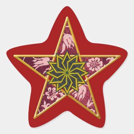 Golden Pentagram #4 - Sticker