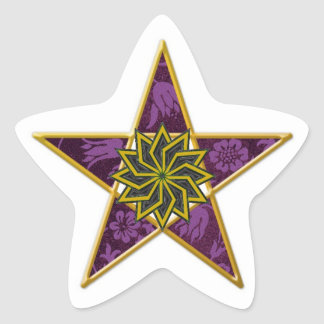 Golden Pentagram #9 - Sticker