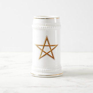 Golden Pentagram - Gold Pentagram Pagan Symbol Mugs