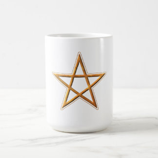 Golden Pentagram - Gold Pentagram Pagan Symbol Mug