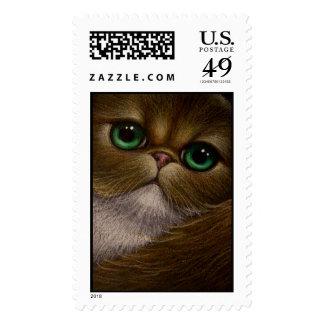GOLDEN PERSIAN CAT Postage