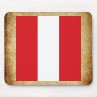 Golden Peru Flag Mouse Pad