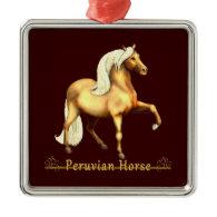 Golden Peruvian Horse Christmas Tree Ornament