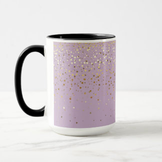 Golden Petite Stars Two-Tone Coffee Mug-LGHT PRPLE Mug