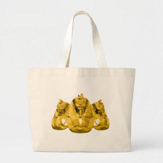 Golden Pharaohs Large Tote Bag