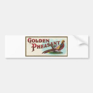 Golden Pheasant Bumper Sticker