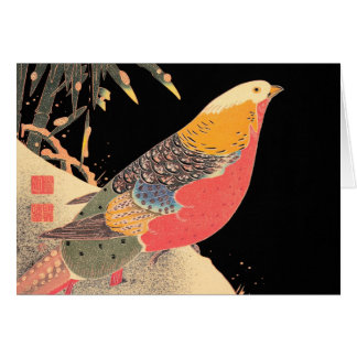 Golden Pheasant in the Snow Itô Jakuchû bird art Card