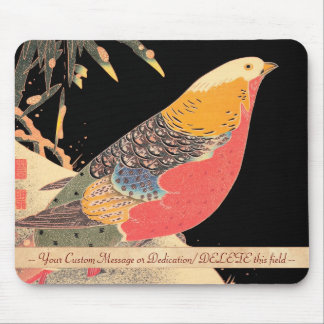 Golden Pheasant in the Snow Itô Jakuchû bird art Mouse Pad