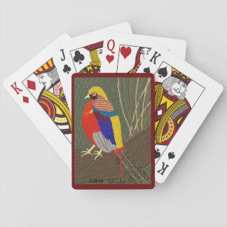 Golden Pheasant Poker Cards