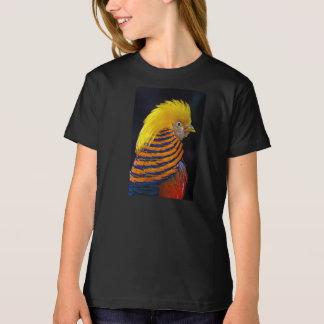 Golden pheasant print t-shirt