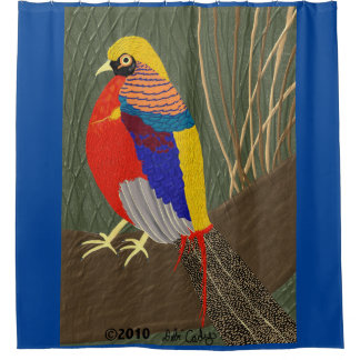 Golden Pheasant Shower Curtain