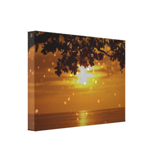 Golden Philippine Sunset Canvas Wrap