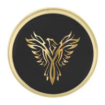 Phoenix Pewter Pin