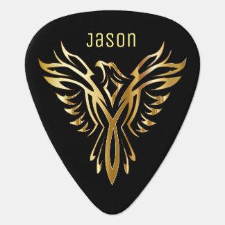 Golden Phoenix Guitar Pick