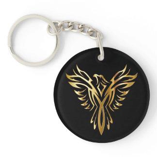 Golden Phoenix Keychain
