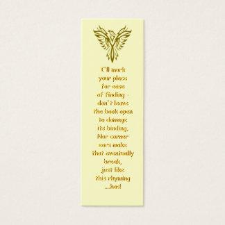 Golden Phoenix Rising bookmark Mini Business Card