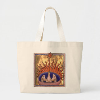 Golden Phoenix Rising From the Ashes Jumbo Tote Bag