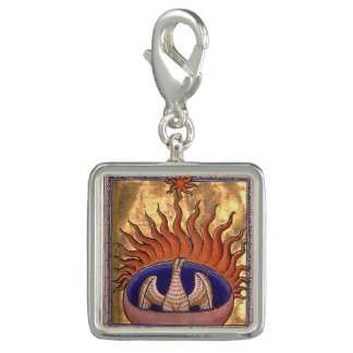 Golden Phoenix Rising From the Ashes Charms