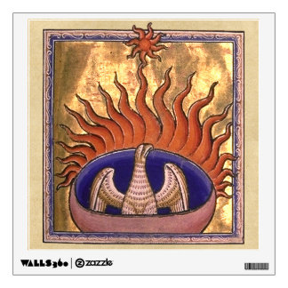 Golden Phoenix Rising From the Ashes Wall Sticker