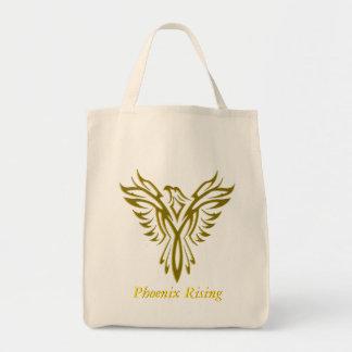 Golden Phoenix Rising tote bag
