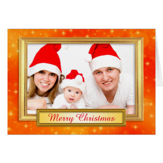 Golden Photo Frame II + your photo & text Card