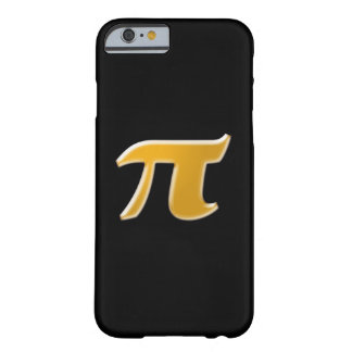 Golden PI on Black Barely There iPhone 6 Case