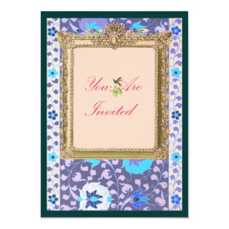 Golden Picture Frame Card