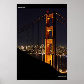 Golden Pillar Poster