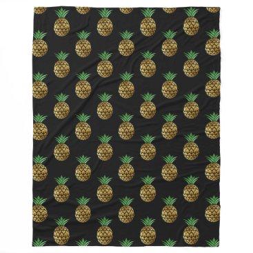Hawaiian Themed Golden Pineapple Blanket