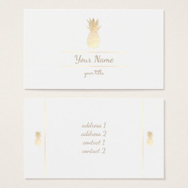 Professional Business golden pineapple business card