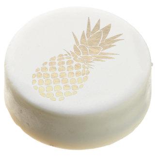 golden pineapple chocolate dipped oreo